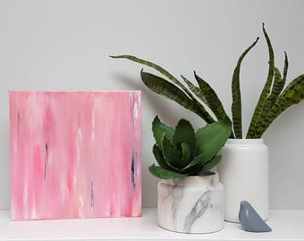 Pink Crush - Original Abstract Acrylic Painting on Canvas by Jacinta Payne / Bright Colourful Abstract Art / One of a kind gift ideas