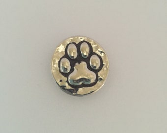 Paw Snap Button Charm