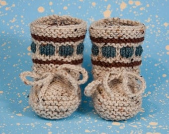Baby Booties-Hand Knitted Baby Boots-Baby Shower Gift - Knitted Baby Shoes -Warm Baby Booties-Hand Knitted Baby Shoes