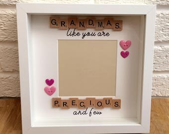 Grandma's like you are precious and few scrabble frame, Mother's Day, Mother's Day gift, gifts for her, gifts for grandma, mum gifts
