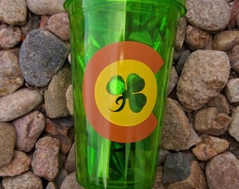 Customized  Double-Wall Plastic Tumbler with Straw, 16 oz.