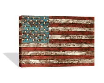 United States of America Flag Vintage Decorative Art Canvas Print /Home Decoration/Iconic Wall Art/Gallery Wrapped/Ready to Hang