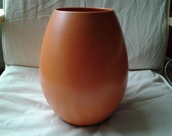 Vintage St Clement France vase, large, orange