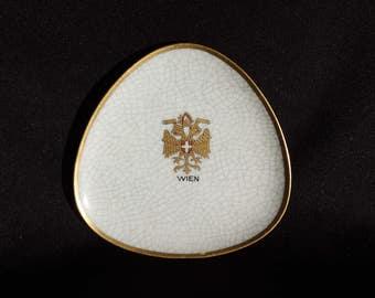 Vintage Trinket Dish Vienna Austria Wein 1950s Souvenir Signed Wahliss