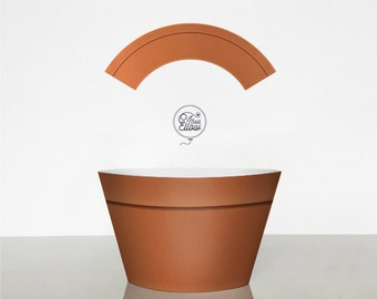 Terracotta Flower Pot cupcake wrapper