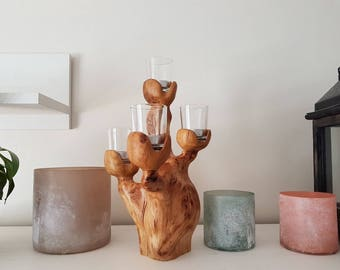 Candleholders - candle holder - wood