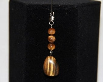 Tiger Eye Beaded Pendant