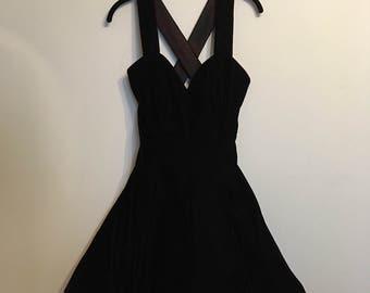 Blackened Red Velvet Mini Prom Dress with Tulle