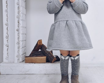insulated dress, winter dress, warm cloth for baby, insulated apparel
