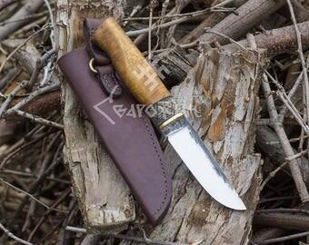 Hand Forged viking Knife, Barbarian Knife, High carbon steel knife, forged knife, etnic knife, scandinavian knife