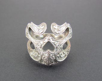 Sterling Silver Skull Ring Oxidized