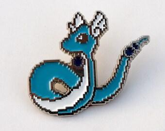 8bit Dragonair Pin - Pokémon pin soft enamel