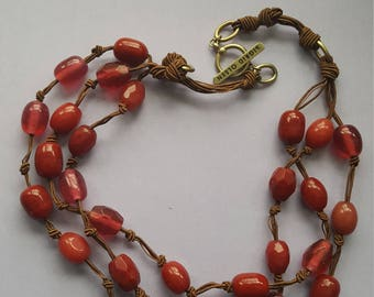 Sigrid Olsen Red Cranberry Necklace
