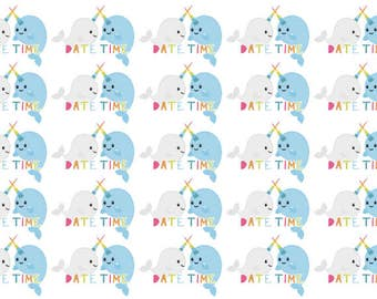 Narwhal Date Time Planner Stickers