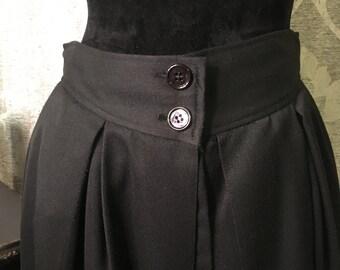 Vintage Skirt- Vintage Black Skirt- Skirt-Size 12-70's Vintage Skirt-80's Vintage Skirt-Vintage Bottoms-Womens Vintage Clothing-Womens Skirt