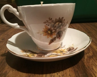 Antique Tea Cup Candle