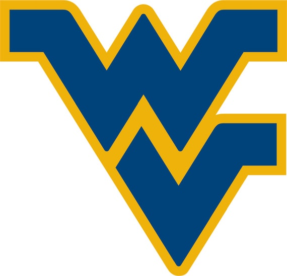 West Virginia University WVU Mountaineers Logo Decal 2 layer
