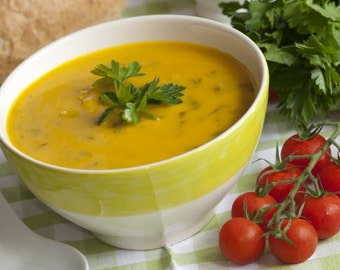 Split Pea Soup Dhal A Trinidadian Dish Cumin Turmeric Spices Included In This