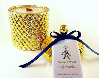 Gold Geo Soy Candle XLarge