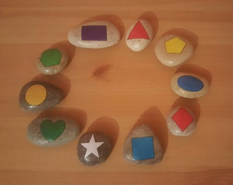 Shape stones. Set of 10