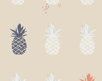 Ananas in Cream - Art Gallery canvas fabric