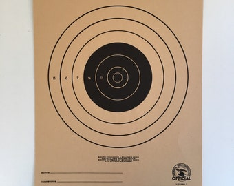 National Rifle Association Official 50 Yard Small Bore Rifle Target, American Vintage 1960's