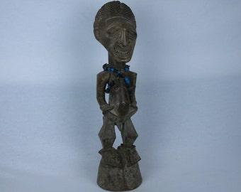 African tribal art nkisi statuette SONGYE-DR CONGO