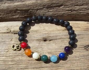 Mens bracelet - Chakra bracelet - Mala Bracelet - Man's bracelet - Mixed beads man's bracelet - Yoga bracelet, Gift for him, Tribal bracelet