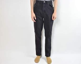 Vintage Black High Waisted Denim Jeans