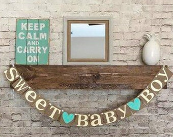 Baby Shower Banner- Sweet Baby Boy Banner- Its A Boy Banner- Baby Boy Banner- Baby Shower Decor- Baby Sprinkle Banner- Baby Boy Banner