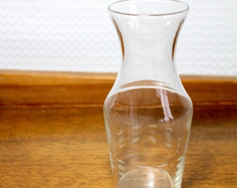 Vintage etched glass carafe