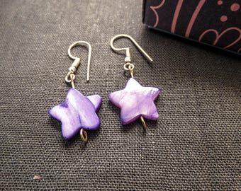 Star Earrings, Star dangle earrings, everyday earrings, simple earrings, gift for her, Star Jewellery, best friend gift