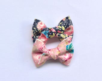 Summer floral faux leather knot bows