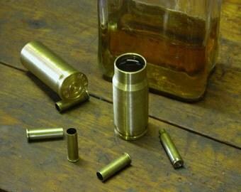 Brass Bullet Cartridge shot glass set.