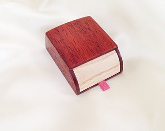 Ring box Engagement box Wedding box for ring Wedding ring box Engagement ring box Wooden ring box Engagement gift box Wood ring box proposal