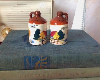 Vintage Chicken Farmhouse Jugs Salt and Pepper Shakers, Vintage Farmhouse Decor, Vintage Shakers, Collectible Shakers, Salt and Pepper