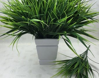Clover Plant 7-fork Green Grass Artificial Plants For Plastic Flowers Household Store Dest Rustic Home Decoration