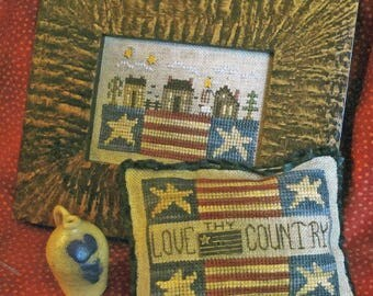 Love Thy Country by Homespun Elegance Counted Cross Stitch Pattern/Chart
