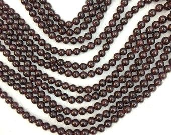 Garnet Beads Natural Red Garnet Beads Red Beads Burgundy Beads 4mm 6mm 8mm 10mm Red Mala Beads Garnet Jewelry Supplies