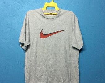 Rare!!vintage 90s nike swoosh shirt big logo