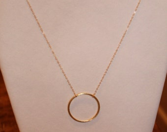 Gold Loop Necklace | circle necklace, hoop necklace