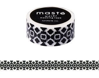 NEW • Bohemian damask washi, Aztec Pattern, Maste Japan, Scrapbook tape, DIY washi, Masking tapes, Adhesive tape
