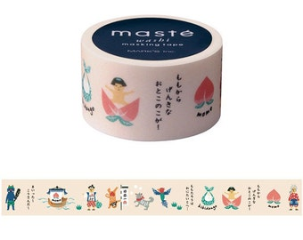 Momtaro Washi tape,  Japanese tape, Maste Japan, Scrapbook tape,  Masking tapes, Gift wrapping, Deco tape