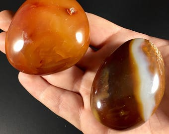 Red Carnelian Crystal Healing Worry Pocket Palm Stone - Crystal healing and stones - GemCity