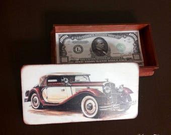 """Купюрница """"Ретро"""" , шкатулка для хранения денег. кредитной карты   Купюрница, small box for storage of money. credit card"""