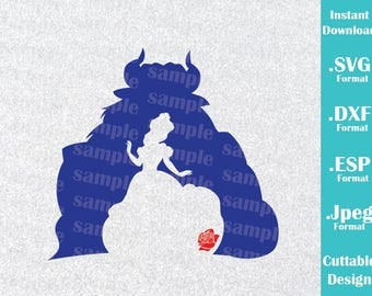 INSTANT DOWNLOAD SVG Disney Inspired Beauty and the Beast for Cutting Machines Svg, Esp, Dxf and Jpeg Format Cricut Silhouette