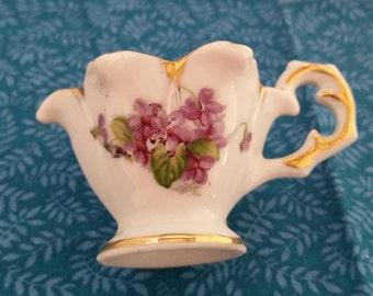Child's Mini Tea Cup With Violets/Mini Tea Cup/Miniature Tea Cup/Tea Cup With Violets/Small Tea Cup/Violets