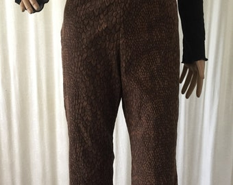 90s brown high waist pants