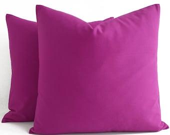 Cotton Purple Pink Pillow, Purple Pink Throw Pillow, Purple Pink Cushion, Decorative  Pillow