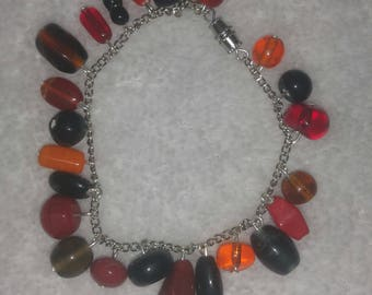Glass Bead Cluster Bracelet